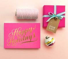 Fuchsia holiday packaging (via The Party Planning Ideas Blog - Cheer's a Party!)