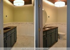 Bathroom Fixtures Plus metal corner shower seat | yes, we tiled the walls with the