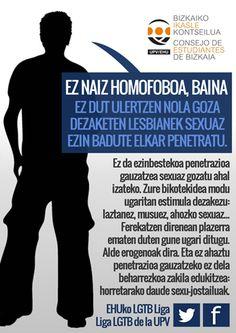 """""""Ni ez naiz homobofoa, baina..."""", UPV/EHUren LGTB Ligako kanpaina"""