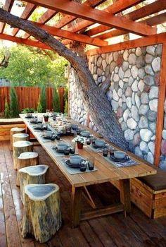 37+ Attached Pergola Design For Your Dream Home - Trumtin