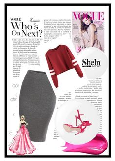 """""""scream : PINK!!"""" by andreastylish ❤ liked on Polyvore featuring Gucci, Kerr®, Urban Decay and Essie"""