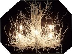 B.E. Interiors: My Twiggy Chandelier for a Fraction of the Price!