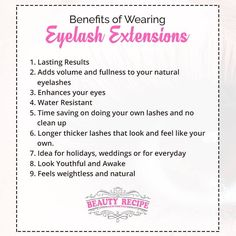 Dreams of having a long and beautiful lashes, yet don't know if it is worthy? Then these benefits of having an eyelash extension guarantee that every penny spent is worth it! For more information Contact us at: +65 6567 3568 Email enquirybeautyrecipe@gmail.com for enquiries & appointment bookings.