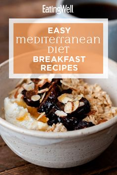 Start your day off right with these fast and easy Mediterranean diet breakfast recipes. Perfect for busy mornings, these simple recipes can be made ahead of time for easy grab-and-go breakfasts (think Mediterranean Diet Breakfast, Easy Mediterranean Diet Recipes, Mediterranean Dishes, Egg Diet Plan, Diet Meal Plans, Egg And Grapefruit Diet, Slow Food, Egg Muffins, Diet And Nutrition