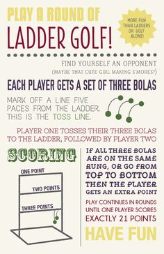 Typography Ladder Golf Instructions Let's Eat Grandpa