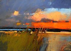 'Sunset on the Cape' Tony Allain www.tonyallainfin… Tony Allain … 'Sunset on the Cape' Tony Allain www. Pastel Landscape, Abstract Landscape Painting, Seascape Paintings, Contemporary Landscape, Landscape Art, Landscape Paintings, Abstract Art, Pastel Paintings, Landscape Bricks