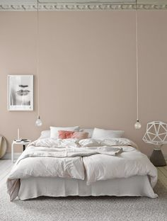 february interior design inspiration - dusty pink bedroom