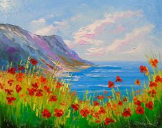 Buy Poppies on the beach, Oil painting by Olha Darchuk on Artfinder. Discover thousands of other original paintings, prints, sculptures and photography from independent artists.