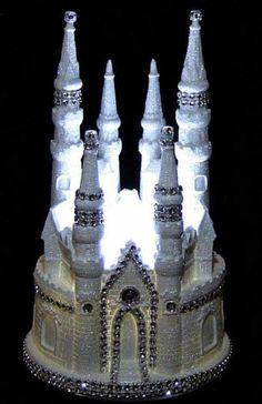LIGHTED CINDERELLA CASTLE WEDDING CAKE TOPPER