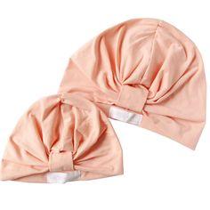 Peach Mommy & Me Gathered Turban Hat