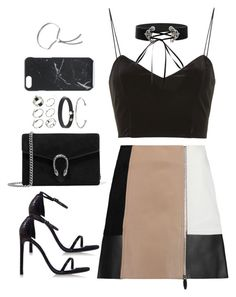 """Sem título #4813"" by fashionnfacts ❤ liked on Polyvore featuring Alexander Wang, Topshop, Stuart Weitzman, Gucci, ASOS, Native Union and Monica Vinader"