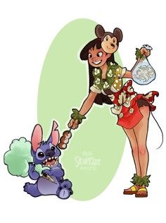 Festival-Goer Lilo by Skirtzzz on DeviantArt Disney Films, Disney And Dreamworks, Disney Pixar, Disney Characters, Disney Artwork, Disney Fan Art, Disney Drawings, Lilo Y Stitch, Disney Stitch