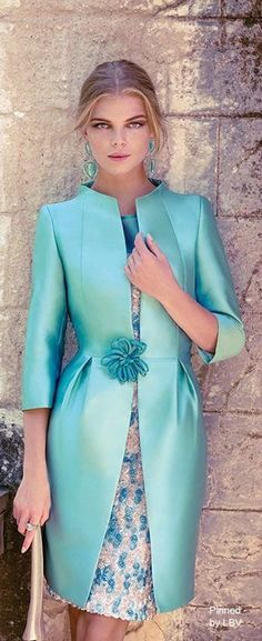 Carla Ruiz 2014 Could work as other of the bride outfit. Suit Fashion, Womens Fashion, Mode Glamour, Coast Dress, Mode Inspiration, Mother Of The Bride, Beautiful Dresses, Evening Dresses, Dress Up