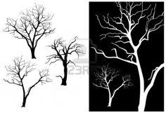 decidiuos tree silhouette - Google Search
