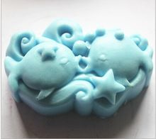 99*71*35mm Pisces Shape 3D Silicone Cake Mold Fondant Mold Jelly Candy Chocolate Soap Mold Decorating Bakeware Cookie Cutters(China (Mainland))