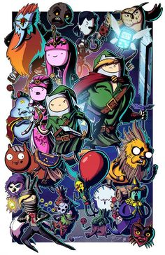 Adventure Bros | The Legend of Zelda/Adventure Time Mashup, Geek, Video Games