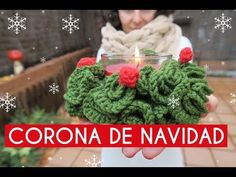 Corona de Navidad ganchillo   Crochet wreath - YouTube