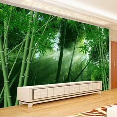 Custom Photo Wall Paper Green Bamboo Forest Landscape Non-woven Straw Textured Wallpaper Home Decor Wall Painting Living Room * Pub Date: Jul 13 2017 Bamboo Wallpaper, Waterfall Wallpaper, Forest Wallpaper, Beach Wallpaper, Tree Wallpaper, Landscape Wallpaper, Print Wallpaper, Textured Wallpaper, Custom Wallpaper
