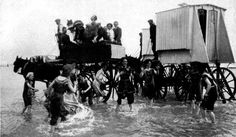 On beaches decorum was key – hence the bathing machine, the forerunner to the beach hut. Beach Pictures, Old Pictures, Beach Pics, Wooden Hut, Great Yarmouth, Best Digital Camera, Barns Sheds, Bathing Beauties, Victorian Gothic