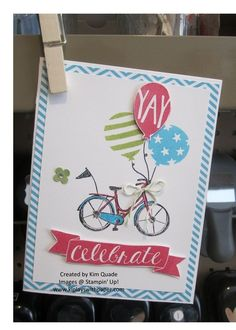 Stampin Up Birthday Bash card from the Occasions catalog.