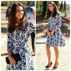 The beloved Duchess Kate Middleton in her visit to the Blue Mountains wearing a chic casual dress. #fashion #moda #fashion #katemiddleton #downunder #australia