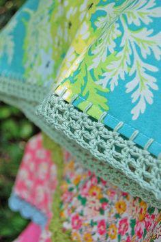 Crocheted pillow cases - so lovely
