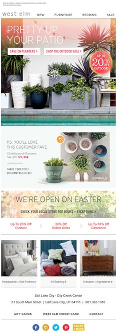 Pretty Up Your Patio West Elm email 2014