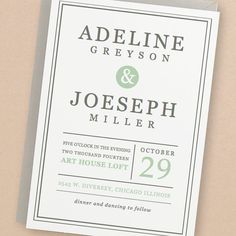 Instant Download - Mint Type - DIY Printable Wedding Invitation Suite