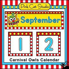 This fun Circus / Carnival Owls theme calendar will look fantastic on your kindergarten classroom wall or bulletin board! Circus Theme Classroom, Owl Classroom, Classroom Decor Themes, Classroom Walls, Kindergarten Classroom, Classroom Activities, Classroom Organization, Classroom Ideas, Classroom Calendar