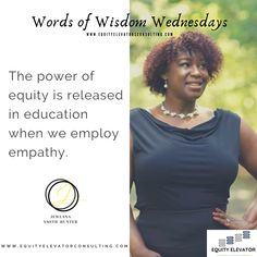 Empathy is authentically placing yourself in the other person's experience. It is difficult to empathize with a group we do not engage and connect with. How will you be intentional about employing empathy? @JewlanaHunter #EquityElevator #EEWordsofWidsom #Equity #Education Home Equity, Elevator, When Us, Connection, Inspirational Quotes, Wisdom, Student, Group, Motivation