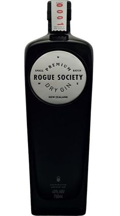 Rogue Society Premium Dry Gin from New Zealand (Gin Bottle Design) Le Gin, Gins Of The World, Gin Tasting, Gin Brands, Gin Lovers, Gin Bottles, Scotch Whiskey, Bottle Packaging, Gin And Tonic