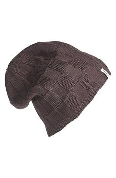 Junior Women's RVCA 'Checked Out' Beanie - Grey