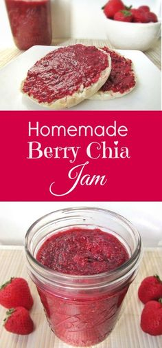 Homemade Mixed Berry Chia Seed Jam (Strawberries & Raspberries!)