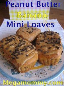 Day 175 – Peanut Butter Banana Bread Mini Loaves with PB Glaze