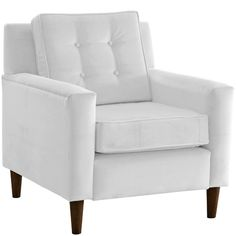 """AllModern - Elena Arm Chair $341. FREE SWATCHES. 32""""W/32"""" D/ 35"""" H.  Is 1-2 inches deeper than space."""