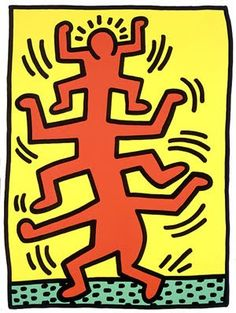 Giclee Print: Untitled Pop Art by Keith Haring : can find Keith haring and more on our website.Giclee Print: Untitled Pop Art by Keith Haring : Keith Haring Poster, Keith Haring Art, Art Pop, Logos Retro, Principles Of Art, Albrecht Durer, Illustration, Renaissance Art, Famous Artists