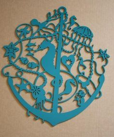 Nautical wall hanging - love the seahorse & the color, wish it wasn't $130