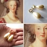 Marie Antoinette Inspired Pearl and Hoop Earrings