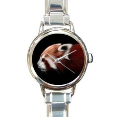Special Design Funny Cute Red Panda Round Italian Charm stainless steel Christmas Day Gift Watch ** Unbelievable  item right here! : Travel Gadgets