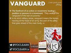 کلمه VANGUARD از کتاب Verbal Advantage - سطح 1