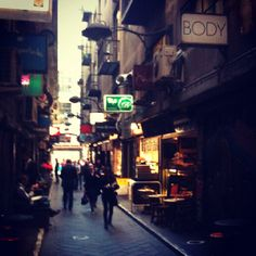 Melbourne lane ways in the CBD...always a treasure to be found..