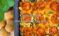Opskrifter - danskekartofler.dk Cheddar, Lasagna, Chicken, Ethnic Recipes, Spinach, Cheddar Cheese, Lasagne, Cubs