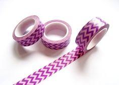 Purple Chevron Washi Tape  Chevron Washi Tape  by pinkdotsetc