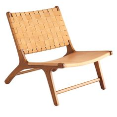 Woven Leather Lounge Chair - NEW