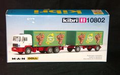 Kibri Truck Transport Lorry Tractor Trailer HO Scale Double Tandem 10802 #Kibri
