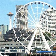 Seattle, Washington - Waterfront ferris wheel...beautiful views