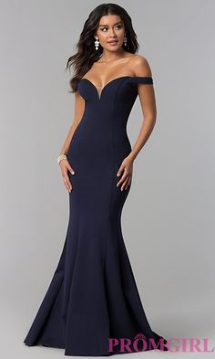 Image of long off-the-shoulder Zoey Grey prom dress.  Style: ZG-31140 Front Image