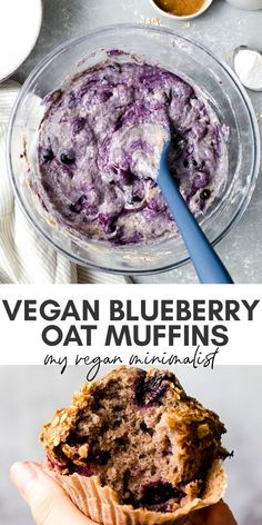Vegan Blueberry Oat Muffins - - Dreamy blueberry muffins with a crunchy oat crumble topping. Vegan Blueberry Muffins, Blue Berry Muffins, Blueberry Cake, Healthy Dessert Recipes, Smoothie Recipes, Vegan Recipes, Drink Recipes, Dinner Recipes, Oat Crumble Topping