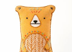 Bear  DIY Embroidery Kit от kirikipress на Etsy
