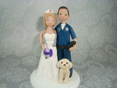 Police officer and nurse cake topper! I LOVE THIS